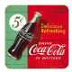Coca Cola Delicious Refreshing drinks mat / coaster   (na)
